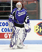Carsen Chubak (Niagara - 1) - The visiting Niagara University Purple Eagles defeated the Northeastern University Huskies 4-1 on Friday, November 5, 2010, at Matthews Arena in Boston, Massachusetts.
