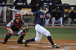 Ole Miss' Miles Hamblin (24) flies out to right field at Oxford-University Stadium in Oxford, Miss. on Wednesday, March 9, 2010.