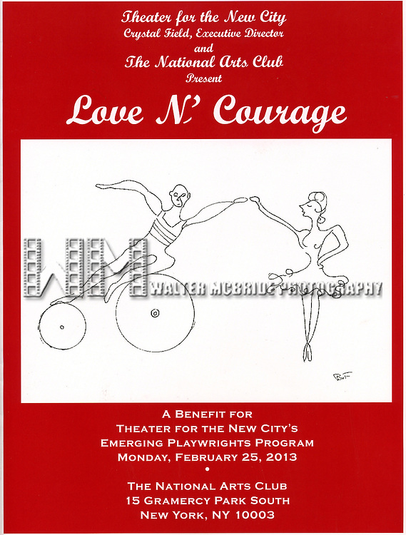 'Love 'n' Courage' the 10th Annual Benefit for the Theater for the New City Emerging Playwrights Program Celebrating Charles Busch at the National Arts Club in New York City on 2/25/2013