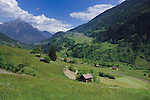Cow shelter, properties and farm land  in the picturesque district of Imst, between Wenns and Kaunerberg, Tyrol,Tirol, Austria.