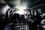 The Philadelphia Eagles prepare to enter the field before the NFL game between the Tampa Bay Buccaneers and the Philadelphia Eagles on October 11th 2009. The Eagles won 33-14 at Lincoln Financial Field in Philadelphia, Pennsylvania. (Photo By Brian Garfinkel)