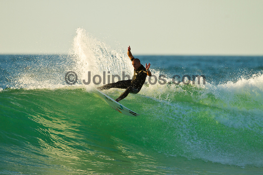 Les Bourdaines, Hossegor/France (Wednesday, September 29, 2010) .Tiago Pires (PRT)  free surfing during a session at Les Bourdaines today after the Quiksilver Pro France was called off..Photo: joliphotos.com