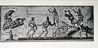 Italy: Rome--Gladiators, Mosaic. Galleria Borghese, 4th C. A.D.