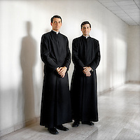 A portrait of 19 year old twin brother priests Raimond and Maximilia Boyunga who entered the Legionaries of Christ seminar in Salamanca when they were both 17 years old. The Legion of Christ is a conservative Roman Catholic congregation whose members take vows of chastity, obedience and poverty.