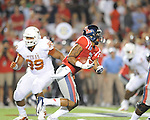 Ole Miss' Randall Mackey (1) vs. Texas at Vaught-Hemingway Stadium in Oxford, Miss. on Saturday, September 15, 2012. Texas won 66-21. Ole Miss falls to 2-1.