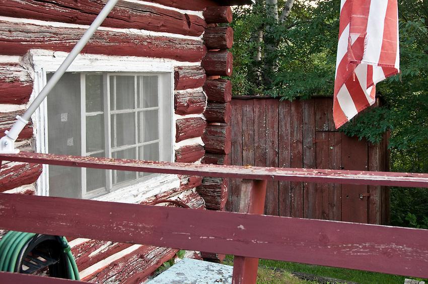 Exterior of Republic Island Cottage near Republic Michigan.