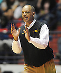 "LSU' head coach Trent Johnson reacts against Mississippi in NCAA  college basketball at the C.M. ""Tad"" Smith Coliseum in Oxford, Miss. on Saturday, February 25, 2012. (AP Photo/Oxford Eagle, Bruce Newman)..."