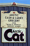 Arctic Cash & Carry Sign
