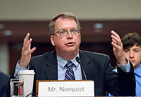 David L. Norquist testifies before the United States Senate Armed Services Committee on his nomination as Under Secretary of Defense (Comptroller) on Capitol Hill in Washington, DC on May 9, 2017.<br /> Credit: Ron Sachs / CNP /MediaPunch