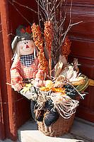 autumn harvest decorations. Villany  ( Villany  ) Hungary.