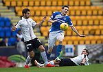 St Johnstone v Falkirk&hellip;23.07.16  McDiarmid Park, Perth. Betfred Cup<br />Blair Alston is fouled by John Rankin<br />Picture by Graeme Hart.<br />Copyright Perthshire Picture Agency<br />Tel: 01738 623350  Mobile: 07990 594431