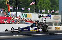 May 4, 2012; Commerce, GA, USA: NHRA top fuel dragster driver Brandon Benstein during qualifying for the Southern Nationals at Atlanta Dragway. Mandatory Credit: Mark J. Rebilas-