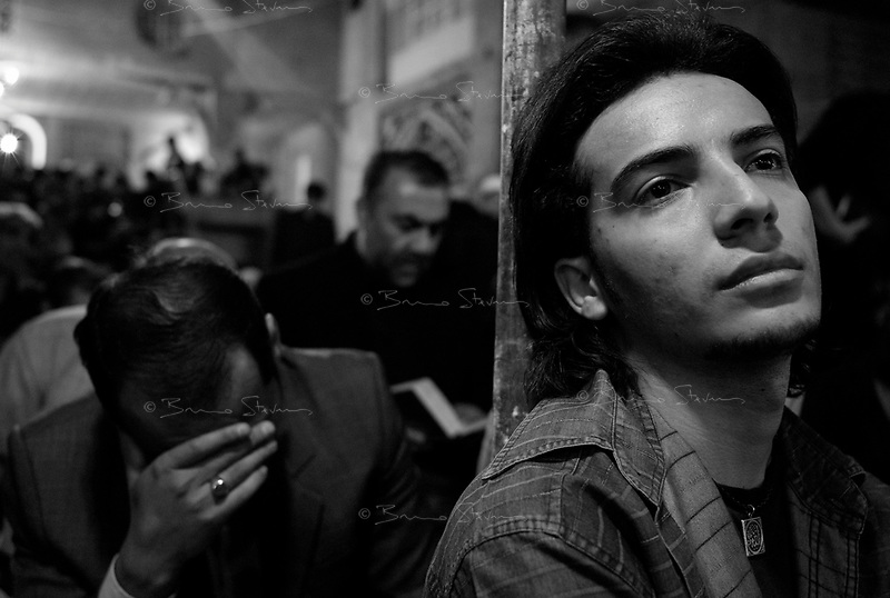 Teheran, Iran, October 2, 2007 .In Masjed Jameh, the oldest mosque in Teheran. Millions of worshippers commemorate the death of Imam Ali, one of the holiest figures for the Shia Muslems, by mourning all night long in and around every single mosque in Iran.