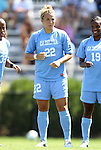 11 September 2011: North Carolina's Amber Brooks. The Texas A&M Aggies defeated the University of North Carolina Tar Heels 4-3 in overtime at Koskinen Stadium in Durham, North Carolina in an NCAA Division I Women's Soccer game.