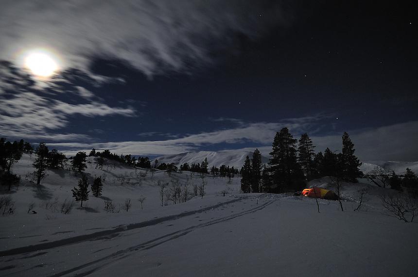 Moonlight night, Trollheimen,Norway