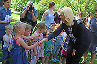 German Minister of Family Affairs, Manuela Schwesig (SPD), visits the Kita Bummi daycare centre during the youth and family ministers' conference in Quedlinburg, Germany, 18 May 2017. Photo: Matthias Bein/dpa-Zentralbild/dpa /MediaPunch ***FOR USA ONLY***