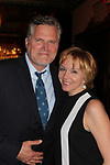 Guiding Light's Robert Newman poses with his wife Britt Helfer (Loving) after he headlines -  Barn Theatre - A Celebration at Feinsteins/54 Below, New York City, New York on April 28. 2017. Barn Theatre is located in Augusta, Michigan.  (Photo by Sue Coflin/Max Photos)