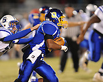 Oxford High's Jarius Barnes (1) vs. Saltillo in Oxford, Miss. on Friday, October 19, 2012. Oxford won to improve to 9-0.