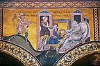 Byzantine mosaics in the Cathedral of Monreale- Jacob steals the blessing of his father intended for Esau- Palermo - Sicily Pictures, photos, images &amp; fotos photography
