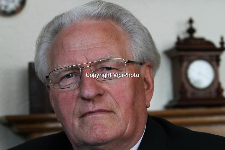 Foto: VidiPhoto..LIENDEN - Portret van ds. R. H. Kieskamp, emeritus predikant PKN (Hervormd) Lienden. Vorige herdacht hij zijn 40-jarig predikantschap..