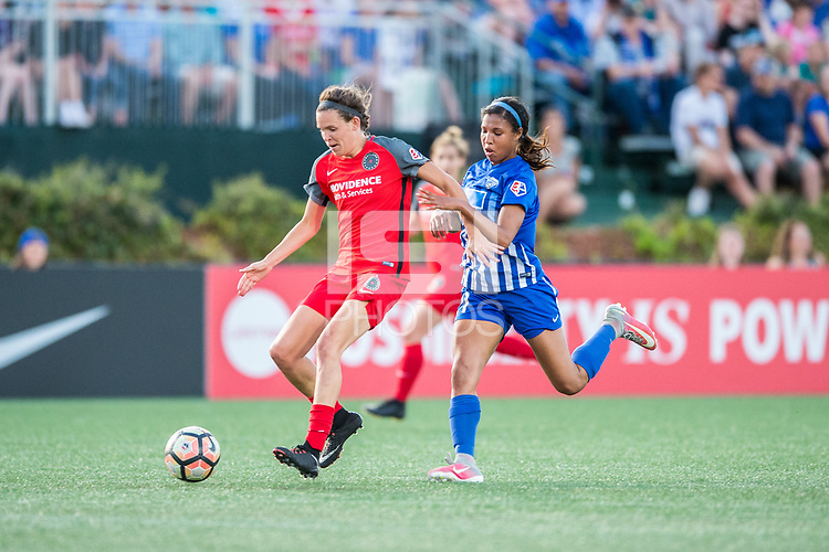Boston, MA - Friday May 19, 2017:  during a regular season National Women's Soccer League (NWSL) match between the Boston Breakers and the Portland Thorns FC at Jordan Field.