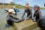 Jemima, Katie & Melissa MeasuringThornback Ray