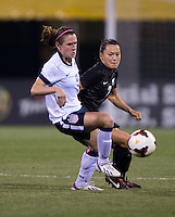 Ali Riley, Heather O'Reilly. The USWNT tied New Zealand, 1-1, at an international friendly at Crew Stadium in Columbus, OH.