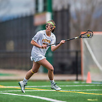 25 April 2015: University of Vermont Catamount Attacker Meredith Moore, a Sophomore from Baltimore, MD, in action against the University of New Hampshire Wildcats at Virtue Field in Burlington, Vermont. The Lady Catamounts defeated the Lady Wildcats 12-10 in the final game of the season, advancing to the America East playoffs. Mandatory Credit: Ed Wolfstein Photo *** RAW (NEF) Image File Available ***