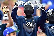 Landover, MD - SEPT 24, 2016: BYU fans are ready for the game against West Virginia at FedEx Field in Landover, MD. (Photo by Phil Peters/Media Images International)
