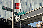 A view of the Highline and The Standard hotel in New York City.