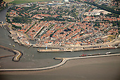 Luchtfoto Harlingen  (stad - haven) - Aerial picture of Harlingen (city - harbour - Port of Harlingen)