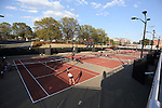 24 March 2016: The North Carolina State University Wolfpack hosted the University of Notre Dame Fighting Irish at the J.W. Isenhour Tennis Center in Raleigh, North Carolina in a 2015-16 NCAA Division I Women's Tennis match. NC State won the match 4-3.
