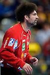 GER - Mannheim, Germany, September 23: During the DKB Handball Bundesliga match between Rhein-Neckar Loewen (yellow) and TVB 1898 Stuttgart (white) on September 23, 2015 at SAP Arena in Mannheim, Germany. Final score 31-20 (19-8) .  Darko Stanic #12 of Rhein-Neckar Loewen<br /> <br /> Foto &copy; PIX-Sportfotos *** Foto ist honorarpflichtig! *** Auf Anfrage in hoeherer Qualitaet/Aufloesung. Belegexemplar erbeten. Veroeffentlichung ausschliesslich fuer journalistisch-publizistische Zwecke. For editorial use only.