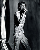 Mick Jagger preforming at the Oakland County Coliseum