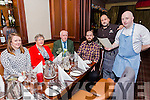 Grand Hotel Chef Rob Curley hosting special Dinner Night on Friday. Pictured L-r Siobhan Devitt,  Mary Curley, Peter Curley, Dave Curley, Gorka Harriette,  Rob Curley