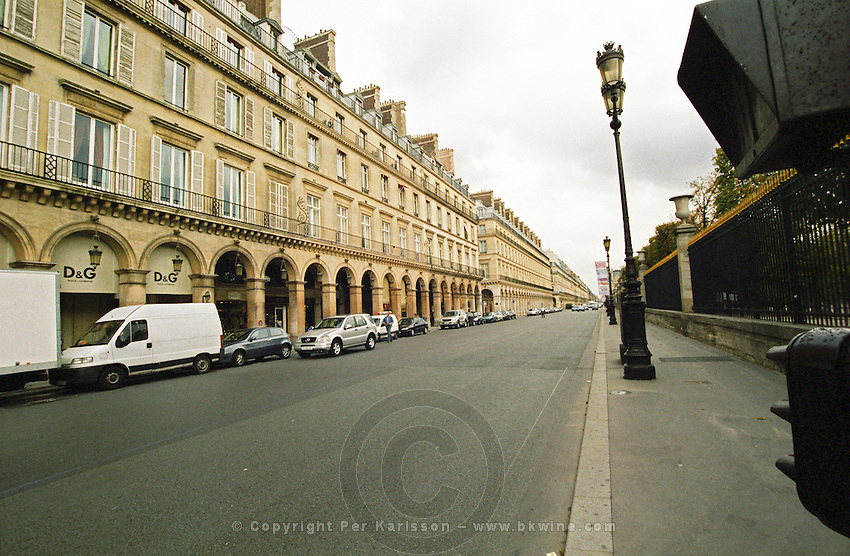 Rue Rivoli street in Paris Paris, France.