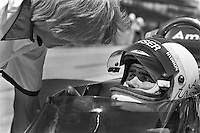 INDIANAPOLIS, IN - MAY 29: Al Unser waits to drive his  Parnelli VPJ6B 001/Cosworth TC during practice for the Indianapolis 500 on May 29, 1977, at the Indianapolis Motor Speedway in Indianapolis, Indiana.