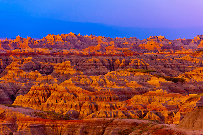 Sunrise, Big Badlands Overlook, Badlands National Park, South Dakota USA