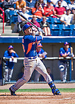 13 March 2014: New York Mets infielder Josh Satin in action during a Spring Training game against the Washington Nationals at Space Coast Stadium in Viera, Florida. The Mets defeated the Nationals 7-5 in Grapefruit League play. Mandatory Credit: Ed Wolfstein Photo *** RAW (NEF) Image File Available ***