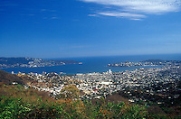 Panoramic view of the city of Acaulco and Acapulco Bay, Guerrero, Mexico