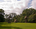 Quirigua is one of the smaller Mayan sites, but also one of the most notable due to the artistry of its stelae, which Mayan rulers during the Classic Period commissioned to commemorate important political and dynastic events. Nowadays, the temples and palaces lie in ruins around the pleasant green park that once was the great plaza of Quirigua and archaeologists are only now piecing them back together.  Quirigua features a total of 22 carved stelae and zoomorphs (large boulders carved to represent animals and covered with figures and glyphs), which are among the finest examples of classic Mayan stone carvings.