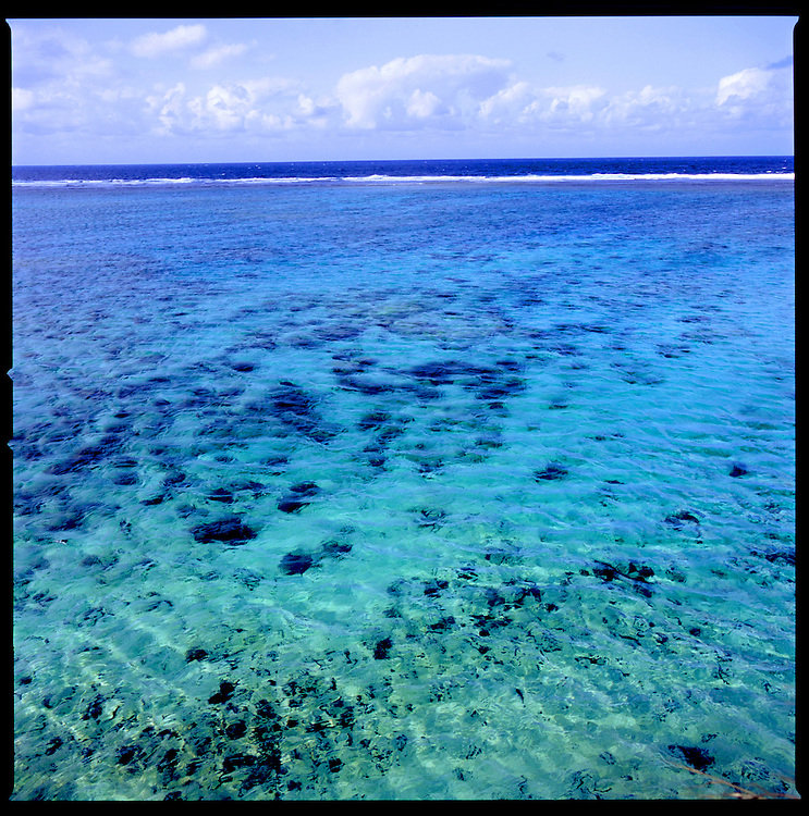 Clear waters of Okinawa just south of Maeda Misaki (Cape Maeda), Okinawa, Japan.