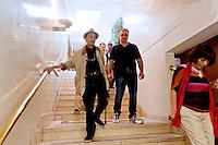 Roma, 7 Giugno 2015<br /> Secondo giorno della convention al Centro congresso Frentani della &quot;Coalizione sociale&quot;. Il segretario della Fiom  Maurizo Landini ha presentato le linee guida del suo nuovo movimento. Oreste Scalzone<br /> Rome, June 7, 2015<br /> Second day of the convention at the Center Congress Frentani of &quot;Social Coalition&quot;. The secretary of Fiom Maurizio Landini presented the guidelines of its new movement.