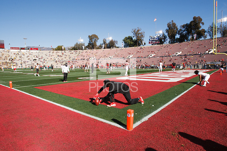 Pasadena, CA - Friday January 1, 2016: Interior of Rose Bowl before the game on New Year's Day in Pasadena, California.<br /> <br /> Stanford defeated Iowa 45 to 16.
