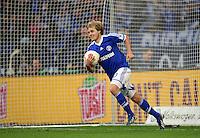 FUSSBALL   1. BUNDESLIGA   SAISON 2012/2013    29. SPIELTAG FC Schalke 04 - Bayer 04 Leverkusen                        13.04.2013 Teemu Pukki (FC Schalke 04) freut sich nach seinem Tor zum 1:2