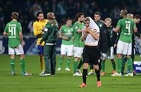 FUSSBALL   1. BUNDESLIGA  SAISON 2011/2012  30. SPIELTAG 10.04.2012 SV Werder Bremen - Borussia Moenchengladbach  Enttaeuschung Gladbach, Alexander Ring