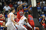 Ole Miss vs. Florida's Will Yeguete (15) in the SEC championship game at Bridgestone Arena in Nashville, Tenn. on Sunday, March 17, 2013.