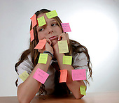 Schoolgirl Post-it notes