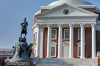The historical statue located on grounds at the University of Virginia in Charlottesville, Va. Photo/Andrew Shurtleff