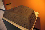 Altar 14 fragment from the Maya ruins of Kaminaljuyu, Popul Vuh Museum, Gautemala City
